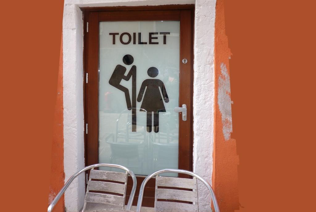 Venice toilet sign